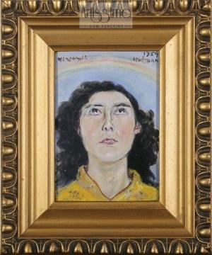 Wlastimil Hofman (1881–1970), Portret z tęczą, 1954*