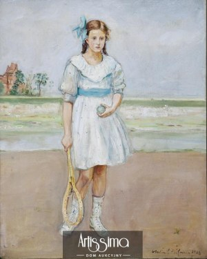 Wlastimil Hofman (1881–1970), Na korcie, 1918*