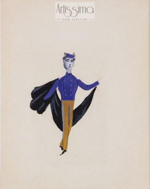 """Tadeusz Kantor (1915–1990), Posłaniec – projekt kostiumu do sztuki """"Antygona"""", przed 1957"""