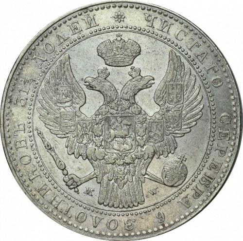 Zabór rosyjski, 1 1/2 rubla-10 złotych 1837 MW Warszawa