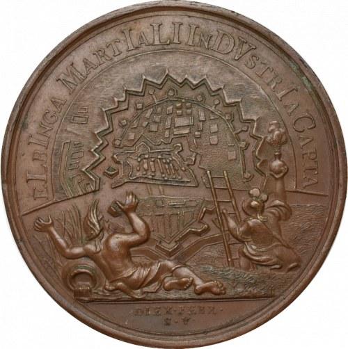 Polska/Rosja, Piotr I, Medal 1711 Elbląg - rzadkość