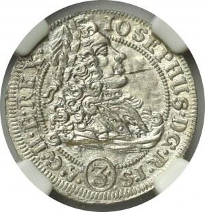 Śląsk, Józef I, 3 krajcary 1706 Opole