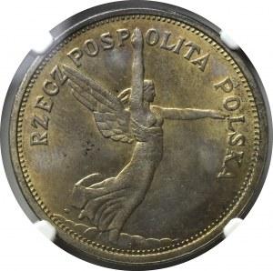 II Rzeczpospolita, 5 Złotych 1928 Nike, ZM - NGC MS63
