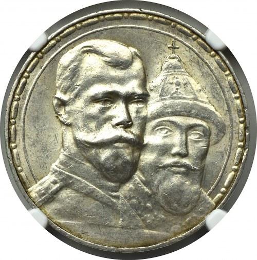 Rosja, Mikołaj II, Rubel 1913 300-lecie dynastii Romanowych - NGC MS62