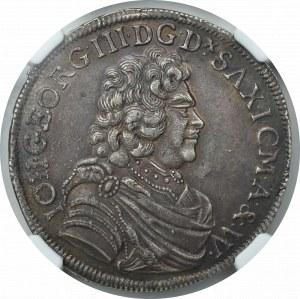 Niemcy, Jan Grzegorz III, 2/3 Talara 1690 - NGC MS62