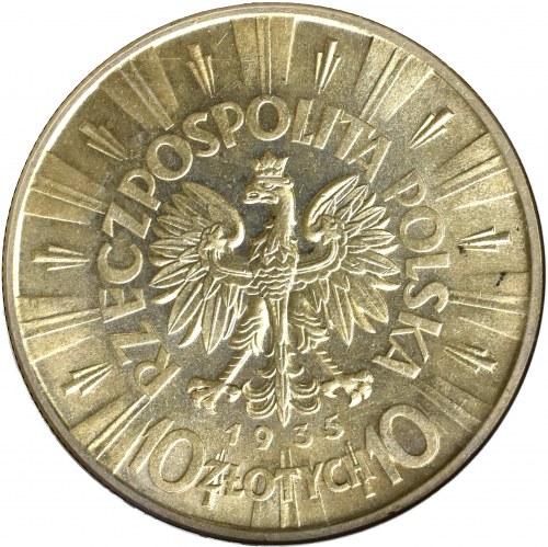 II Rzeczpospolita, 10 złotych 1935 Piłsudski - GCN MS65