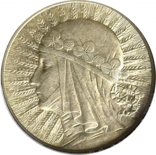 II Rzeczpospolita, 5 złotych 1934 Głowa kobiety - GCN MS63