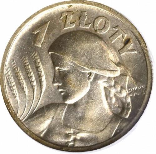 II Rzeczpospolita, 1 złoty 1925 Kobieta kłosy - GCN MS65