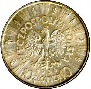 II Rzeczpospolita, 10 złotych 1936, Piłsudski - GCN MS64