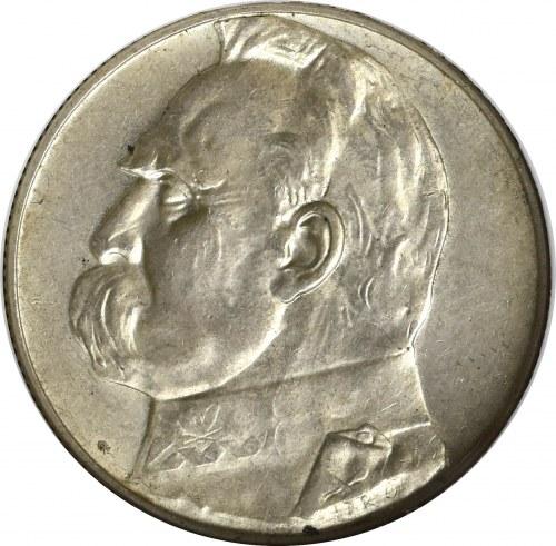 II Rzeczpospolita, 5 złotych 1938, Piłsudski - GCN MS63