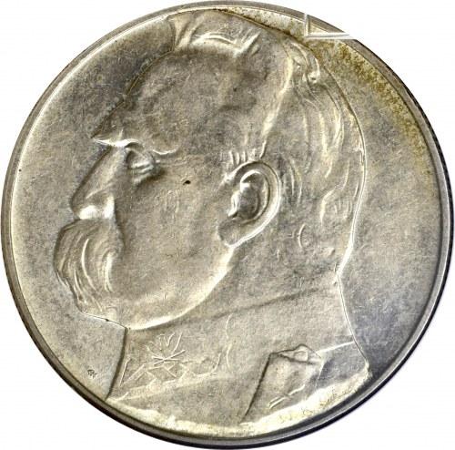 II Rzeczpospolita, 10 złotych 1935, Piłsudski - GCN MS64