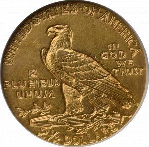 USA, 2 1/2 dolara 1910 - GCN AU58