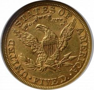 USA, 5 dolarów 1881 - GCN AU50