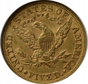 USA, 5 dolarów 1880 - GCN AU53