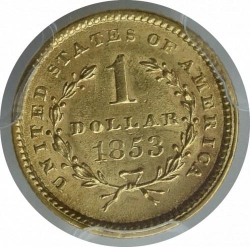 USA, 1 dolar 1853 - PCGS AU58