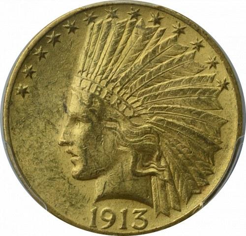 USA, 10 dolarów 1913 - PCGS MS62