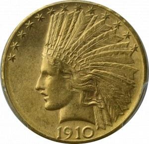 USA, 10 dolarów 1910 D - PCGS AU58