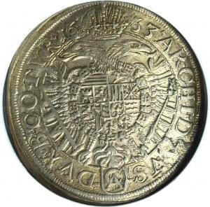 Austria, 15 krajcarów 1663 Wiedeń