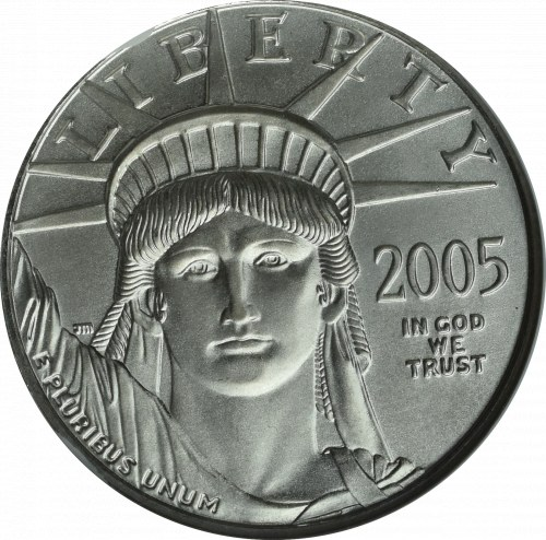 USA, 50 dolarów 2005, Platyna - GCN MS70