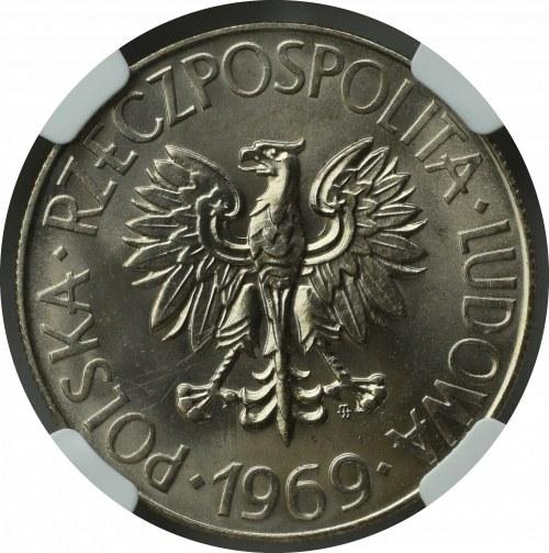 PRL, 10 Złotych 1969 Tadeusz Kościuszko - NGC MS65