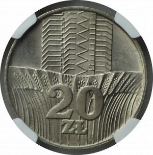 PRL, 20 złotych 1973 -NGC MS65