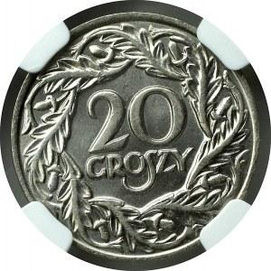 II Rzeczpospolita, 20 groszy 1923 - NGC MS65