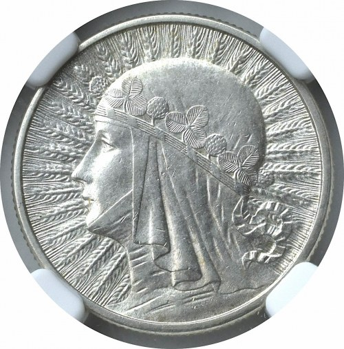 II Rzeczpospolita, 2 złote 1934 Głowa kobiety - NGC MS61