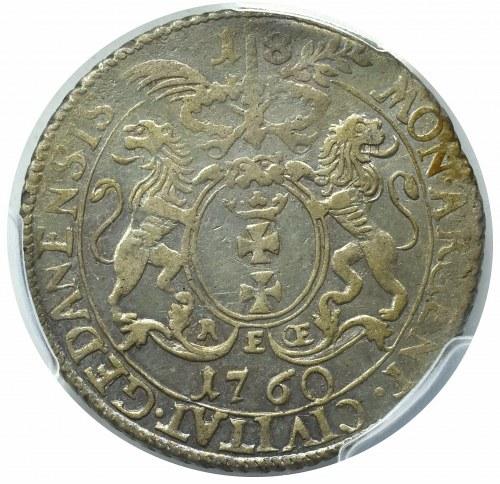 August III Sas, Ort 1760 REOE Gdańsk -wąski wieniec