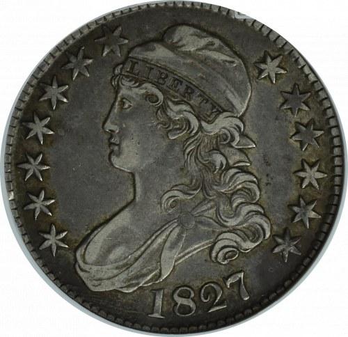USA, 50 centów 1827 - GCN XF40