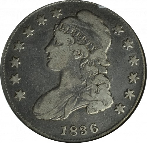 USA, 50 centów 1836 - GCN VF30
