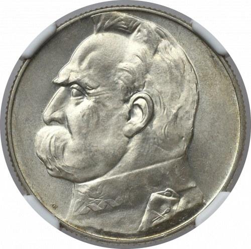 II Rzeczpospolita, 5 złotych 1935 Piłsudski - NGC MS64
