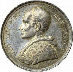 Medal Annualny Leon XIII 1882, ANNO V (Rok 5 pontyfikatu )