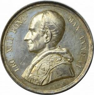 Medal Annualny Leon XIII 1883, ANNO VI (Rok 6 pontyfikatu )