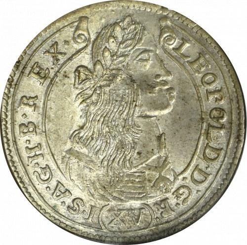 Węgry, Leopold I, 15 krajcarów 1676 KB