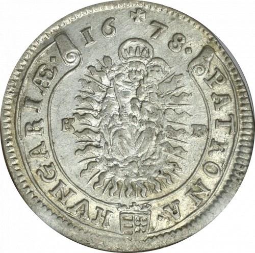 Węgry, Leopold I, 15 krajcarów 1678 KB