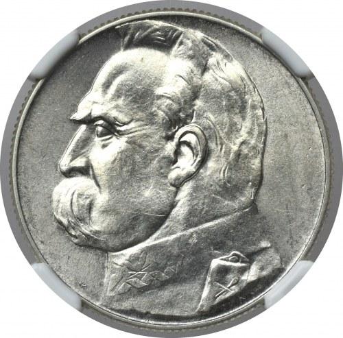 II Rzeczpospolita, 5 złotych 1934 Piłsudski - NGC MS62