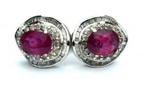 Kolczyki - diamenty i rubiny