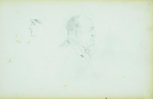 Stanisław Chlebowski (1835-1884), Szkic głowy mężczyzn