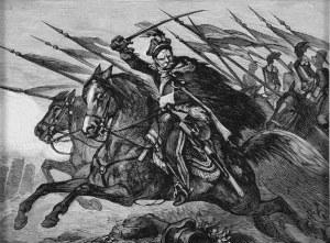 Juliusz Kossak (1824-1899), Do ataku! – Pan Mohort osłania odwrót brygady Wielhorskiego