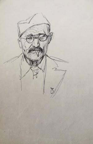 Ludwik Maciąg (1920-2007), Szkic portretu żołnierza