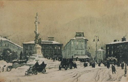 Odo (Otton) DOBROWOLSKI (1883-1917), Ogólny widok - Pomnik Adama Mickiewicza we Lwowie, 1914-1915