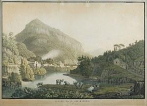 Jacob Philipp HACKERT (1737-1807) - według, rytował H. SCHUTZ, 1 poł. XIX w., Widok na Mont Liberatorio w Molina, 1818