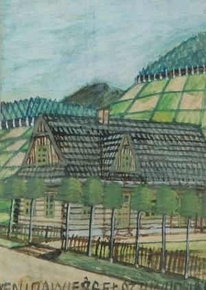 Nikifor KRYNICKI (1895-1968), Dom pod wzgórzem