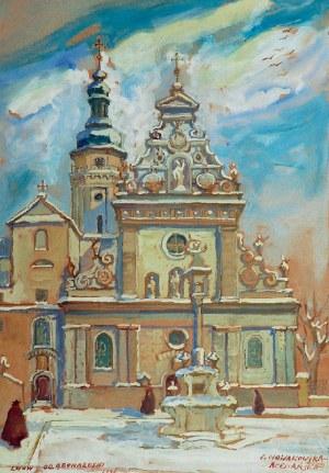 Irena NOWAKOWSKA-ACEDAŃSKA (1906-1983), Kościół Bernardynów we Lwowie, 1945