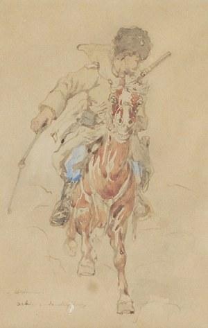 Tadeusz RYBKOWSKI (1848-1926), Ucieczka - szkic