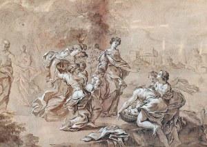 Nicolas POUSSIN (1594-1665) - przypisywany, Znalezienie Mojżesza - Szkic do obrazu