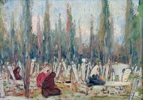 Bronisława RYCHTER-JANOWSKA (1868-1953), Cmentarz muzułmański w Smyrnie, 1931
