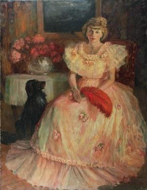 Jerzy POTRZEBOWSKI (1921-1974), Portret damy w sukni balowej, 1953
