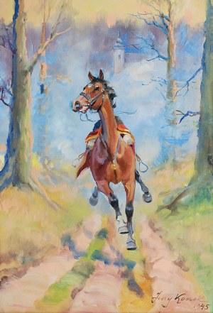 Jerzy KOSSAK (1886-1955), Spłoszony koń, 1945