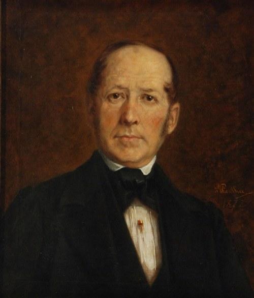 Daniel PENTHER (1837-1887), Portret mężczyzny, 1872